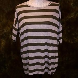 LulaRoe Striped High-Low Tee Shirt